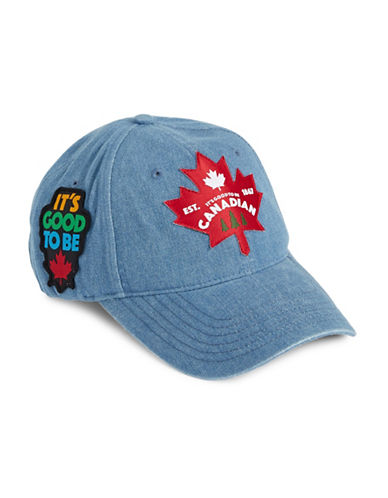 Canadian Paralympic Team Collection Unisex Twill Denim Cap-BLUE-One Size