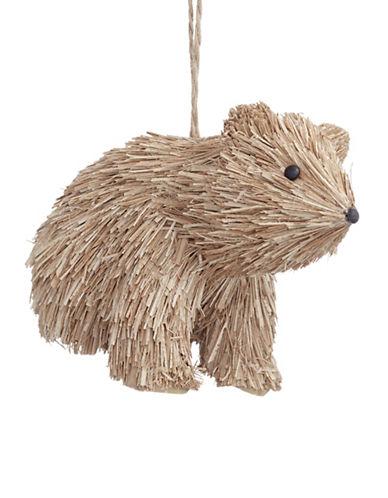 Glucksteinhome Aspen Charm Bristle Bear Ornament-NATURAL-One Size