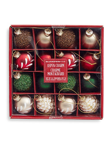 Glucksteinhome Aspen Charm 16-Piece Assorted Ornament Set-ASSORTED-One Size