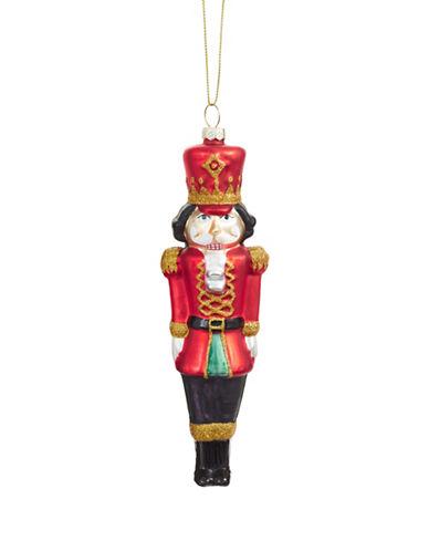 Glucksteinhome Aspen Charm Glass Nutcracker Ornament-RED-One Size