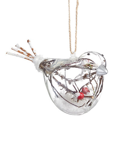 Glucksteinhome Aspen Charm Glass Bird Ornament-CLEAR-One Size