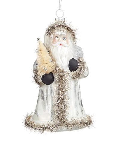 Glucksteinhome Noel Blanc Santa Ornament-SILVER-One Size