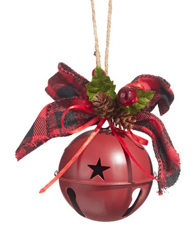 Glucksteinhome Aspen Charm Jingle Bell Ornament-RED-One Size