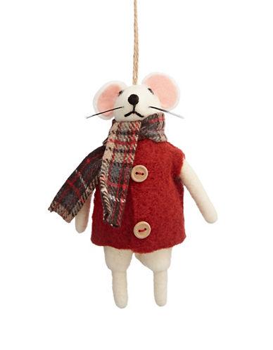 Christmas Street Aspen Charm Felt Mouse Ornament-MULTI-One Size