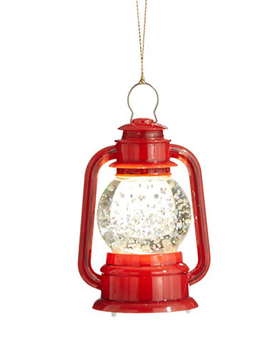 Christmas Street Winter Chalet Light-Up Lantern Ornament-RED-One Size