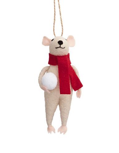 Christmas Street Winter Chalet Felt Mouse Ornament-MULTI-One Size