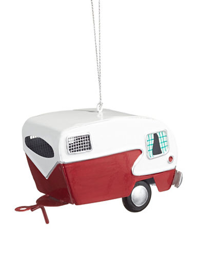 Christmas Street Winter Chalet Metal Trailer Ornament-MULTI-One Size