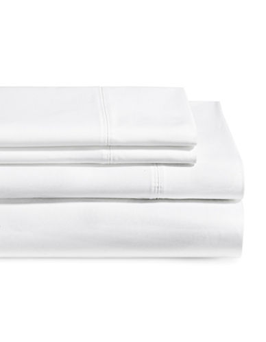 Glucksteinhome Four-Piece 650 Thread Count Wrinkle Resistant Ultra Fine Cotton Sheet Set-BRIGHT WHITE-Double
