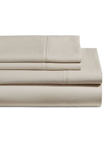 Glucksteinhome Four-Piece 650 Thread Count Wrinkle Resistant Ultra Fine Cotton Sheet Set-TAUPE-Double