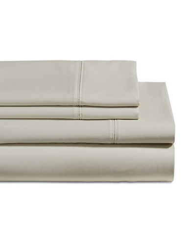 Glucksteinhome Four-Piece 650 Thread Count Wrinkle Resistant Ultra Fine Cotton Sheet Set-GREY-Double