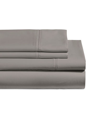 Glucksteinhome Four-Piece 650 Thread Count Wrinkle Resistant Ultra Fine Cotton Sheet Set-CHARCOAL-Double