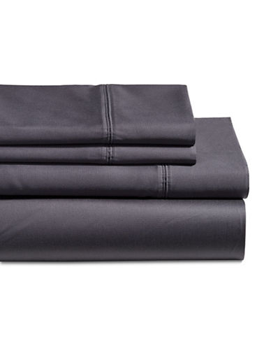 Glucksteinhome Four-Piece 650 Thread Count Wrinkle Resistant Ultra Fine Cotton Sheet Set-DARK BLUE-Double