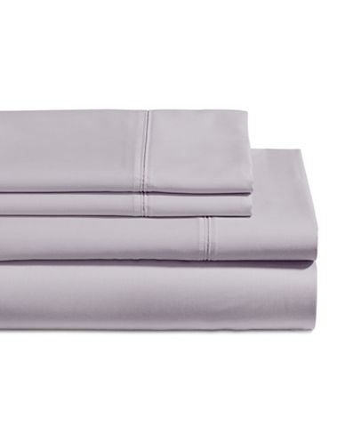 Glucksteinhome Four-Piece 650 Thread Count Wrinkle Resistant Ultra Fine Cotton Sheet Set-LILAC-Queen