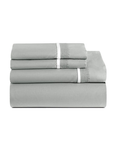 Glucksteinhome Four-Piece Estate Sheet Set-GREY-Queen
