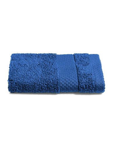 Dh Plush Textured Washcloth-COBALT-Washcloth