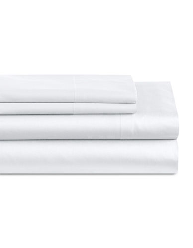 Home Studio Four-Piece 550 Thread Count Sheet Set-WHITE-King