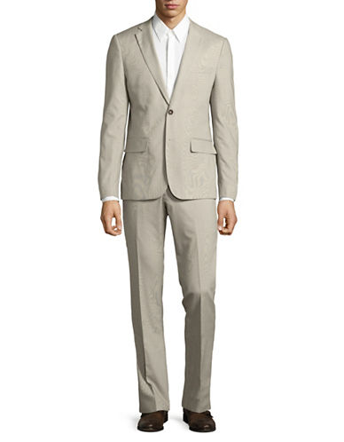 Haight And Ashbury Stretch Suit-BEIGE-36 Regular