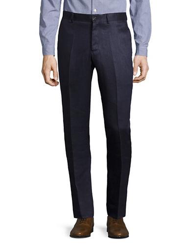 Haight And Ashbury Linen Dress Pants-BLUE-38