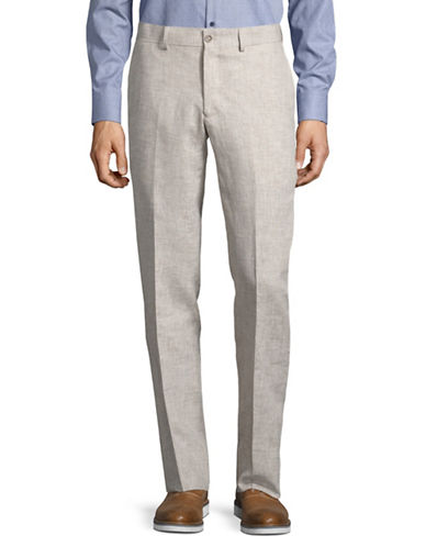 Haight And Ashbury Linen Dress Pants-NATURAL-34