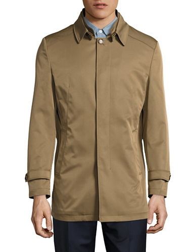 Haight And Ashbury Slim Fit Trench Coat-BEIGE-X-Small