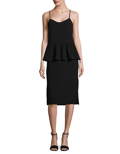 Ganni Peplum Sheath Dress-BLACK-36