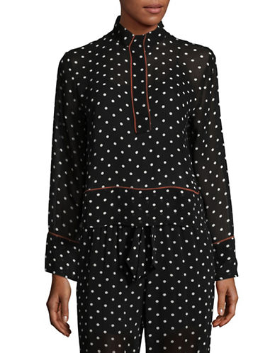 Ganni Dot Blouse-BLACK-40