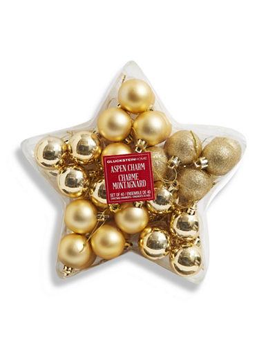 Glucksteinhome Aspen Charm Set of 40 Ornaments-GOLD-One Size