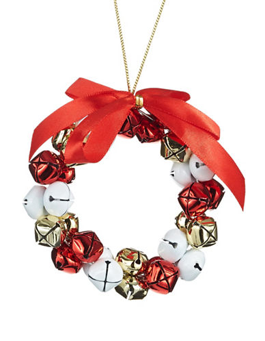 Glucksteinhome Aspen Charm Jingle Bell Wreath Ornament-MULTI-One Size