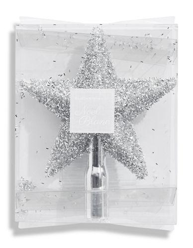 Glucksteinhome Noel Blanc Silver Star Shatterproof Tree Topper-SILVER-One Size