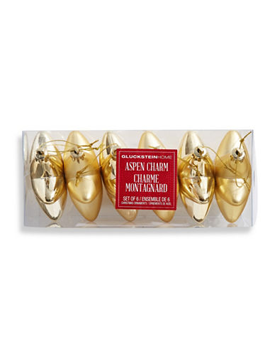 Glucksteinhome Aspen Charm Six-Piece Star Ornament Set-GOLD-One Size
