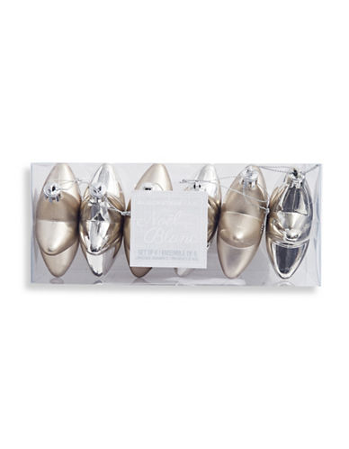Glucksteinhome Noel Blanc Six-Piece Star Ornament Set-SILVER-One Size