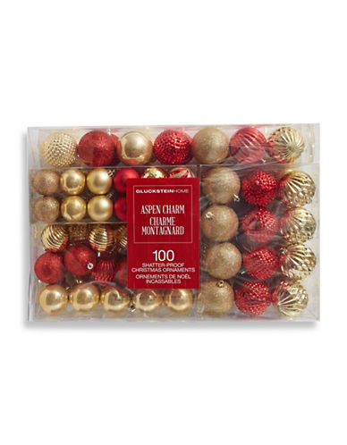 Glucksteinhome Aspen Charm 100-Piece Ball Ornament Set-ASSORTED-One Size