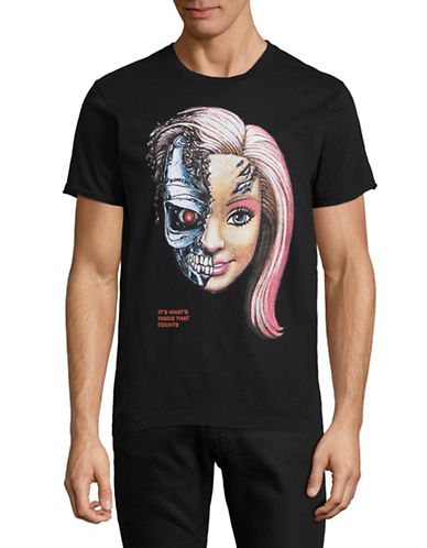 Dom Rebel Babe Robot T-Shirt-BLACK-X-Large