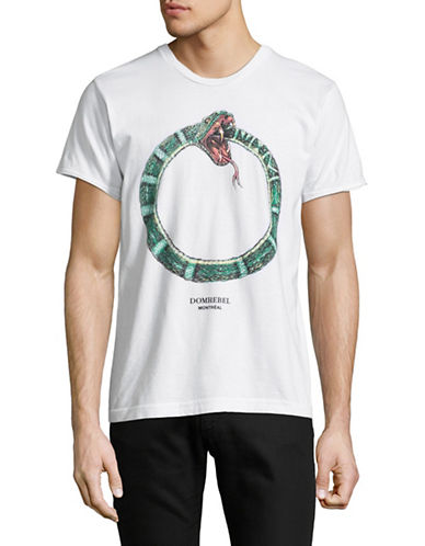 Dom Rebel Ouroboros Graphic T-Shirt-WHITE-Large