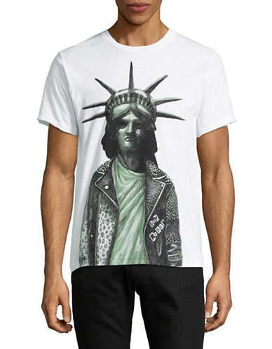 Dom Rebel Liberty Graphic T-Shirt-WHITE-Small