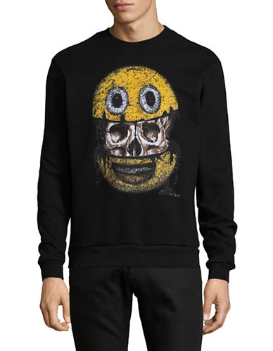 Dom Rebel Emoji Graphic Sweatshirt-BLACK-Small