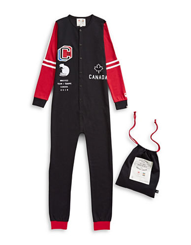 Canadian Olympic Team Collection x Drake General Store Unisex Canada One-Piece Pyjama-BLACK-Medium
