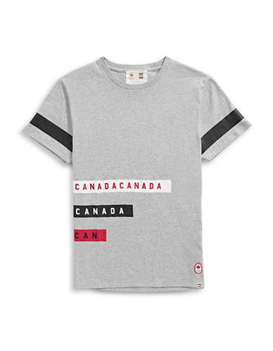 Canadian Olympic Team Collection x Drake General Store Unisex Stripe T-Shirt-GREY-Medium