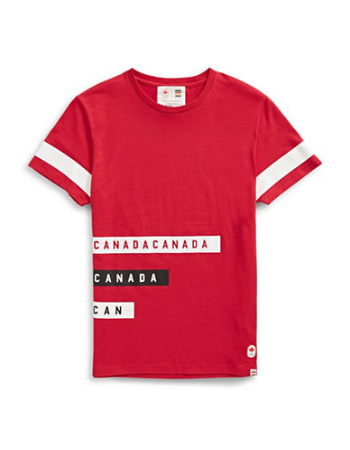 Canadian Olympic Team Collection x Drake General Store Unisex Stripe T-Shirt-RED-Medium