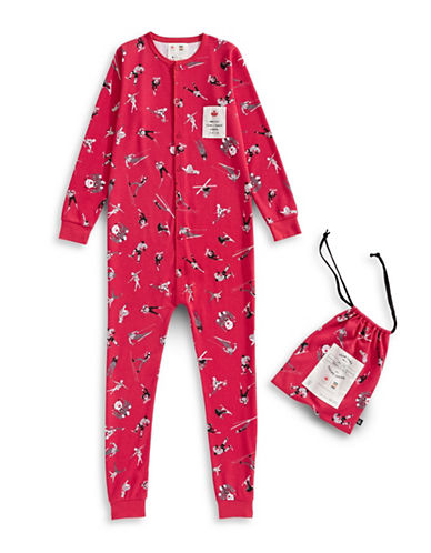 Canadian Olympic Team Collection x Drake General Store Adult Holiday Coveralls-RED-Small