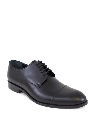 Jay+Dee Man The Maxwell Leather Derby Shoes-BLACK-EU 41/US 8