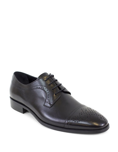 Jay+Dee Man The Joseph Leather Derby Shoes-BLACK-EU 43/US 10