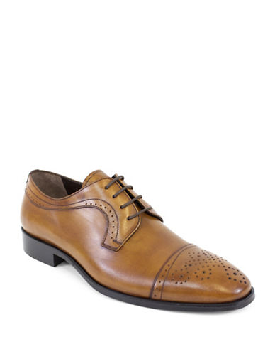 Jay+Dee Man The Joseph Leather Derby Shoes-BROWN-EU 42/US 9