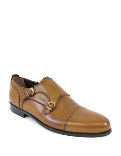 Jay+Dee Man The Bentley Double Monk-Strap Leather Shoes-BROWN-EU 41/US 8