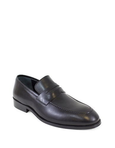 Jay+Dee Man The Luke Leather Penny Loafers-BLACK-EU 44/US 11