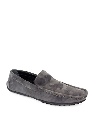 Jay+Dee Man The Miles Leather Driving Shoes-LIGHT GREY-EU 42/US 9