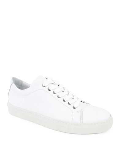 Jay+Dee Man Simon Leather Sneakers-WHITE-EU 43/US 10