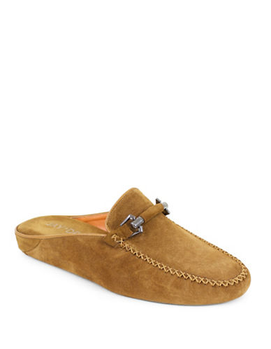 Jay+Dee Man The J. Stewart Suede Slippers-BROWN-Small
