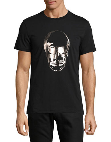 Markus Lupfer Foil Skull T-shirt-BLACK-Large