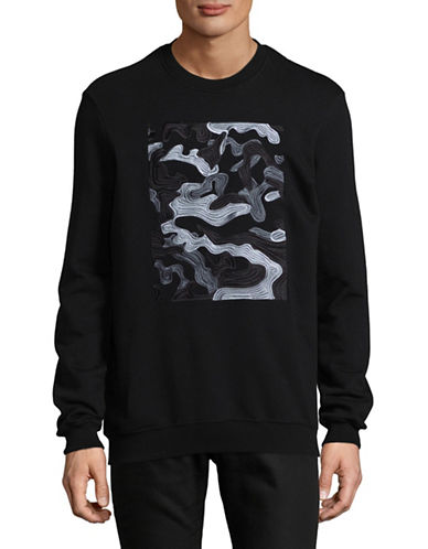 Markus Lupfer Embroidered Cotton Sweatshirt-BLACK-Small